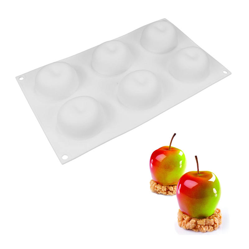 New DIY Baking Non-stick French Dessert Apple Shape Silicone Cake Mold Form Pastry Decorating Tool For Mousse Soap Kitchen Mould