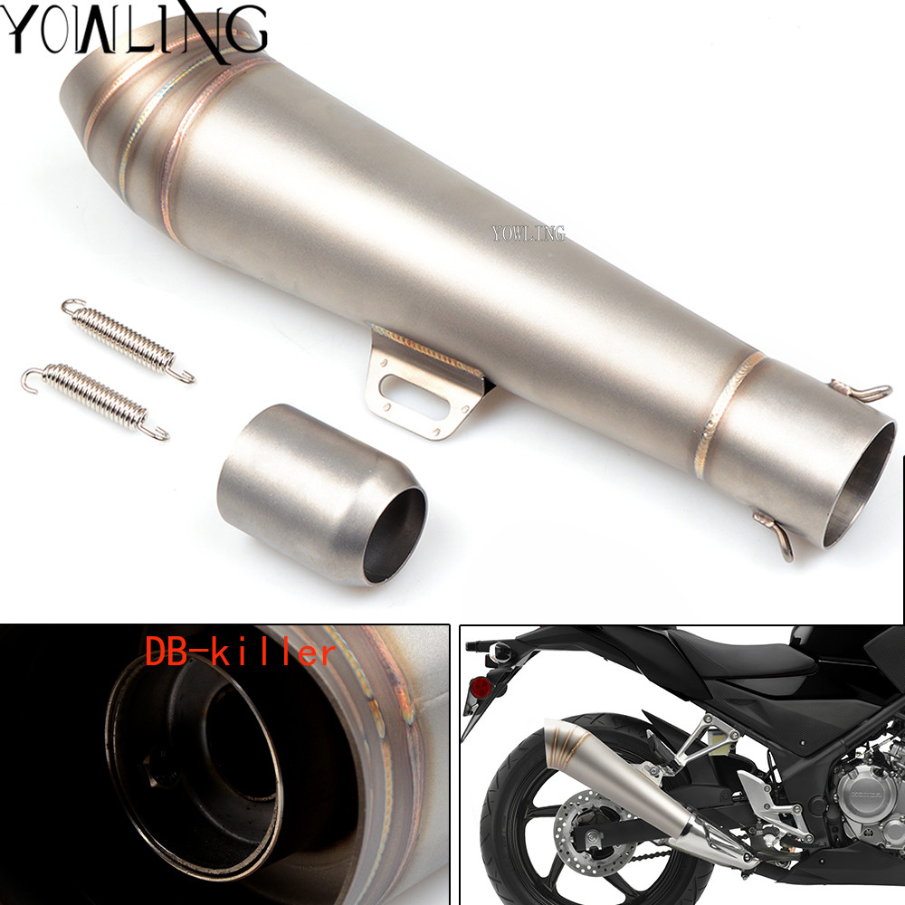 Universal 36-51mm Motorcycle exhaust Modified Scooter Exhaust Muffle For Honda CB 599 919 400 CB600 HORNET CBR 600 F2 F3 F4 F4i rear brake disc rotor for honda cb400 cbr400rr cb600 cbr600f cbr600r cbr600rr cbr600se cbr600 cbr 600 f3 f4 f4i sjr cb 400