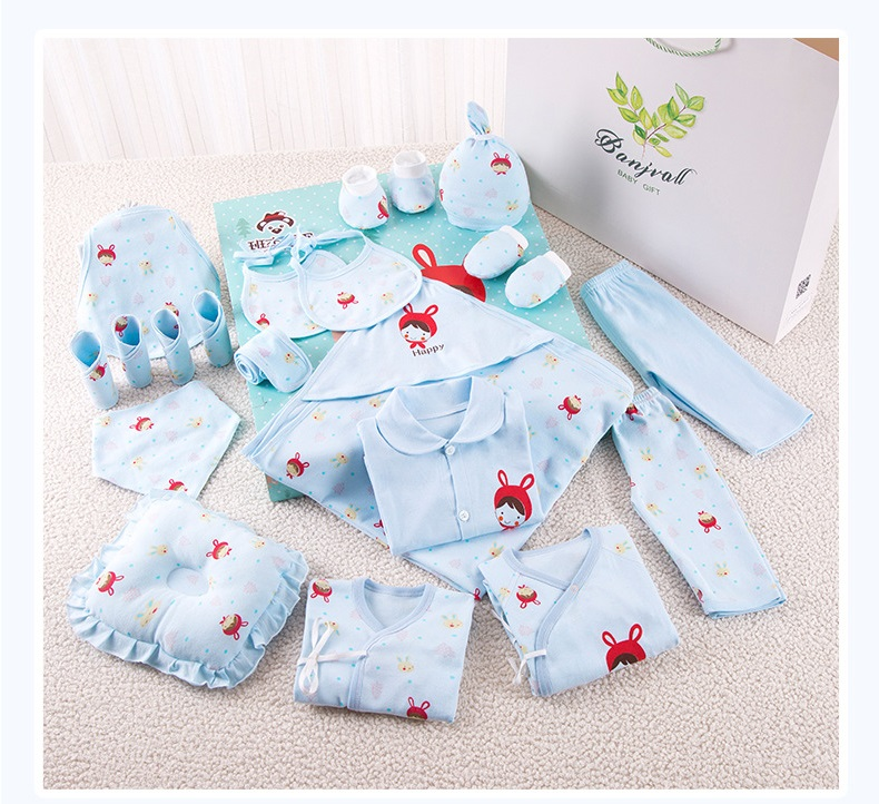 9750f20e14775 Cartoon Newborn Clothes Soft Cotton Baby Girl Clothes Baby Boy Set Spring  Autumn Infant Clothing New Born Gift 21 Pcs/Set