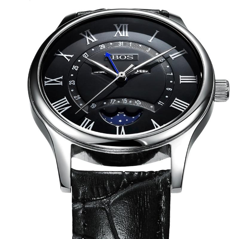 Fashion Casual Luxury Brand BOS Series Men Watch Geneva Quartz Watches Men Sport Dress Business Watch Gift Sales geneva 482 casual multiple movements men quartz watch