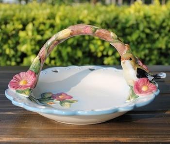ceramic white birds Basket fruit Candy Storage dish Dessert Snack Salad plate home decor wedding decoration handicraft figurine