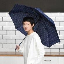 Tiohoh Japanese Long Umbrella Rain Women Plaid Style Stick Clear Umbrellas Girls Windproof 8 Ribs Travel Golf Paraguas