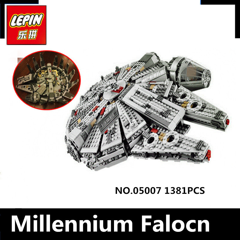 IN STOCK lepin 05007 1381Pcs Star Force Awakens Millennium Wars Falcon Model Building Kits Blocks Bricks Toy For Children 75105 джоэль харрис сказки дядюшки римуса