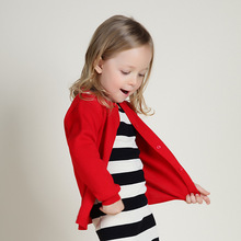 Baby Girls Sweaters Jacket 2018 Spring Autumn Kids Sweater Coat Casual Cotton Toddler Girls Clothes Outerwear 1 2 3 4 5 6 Years