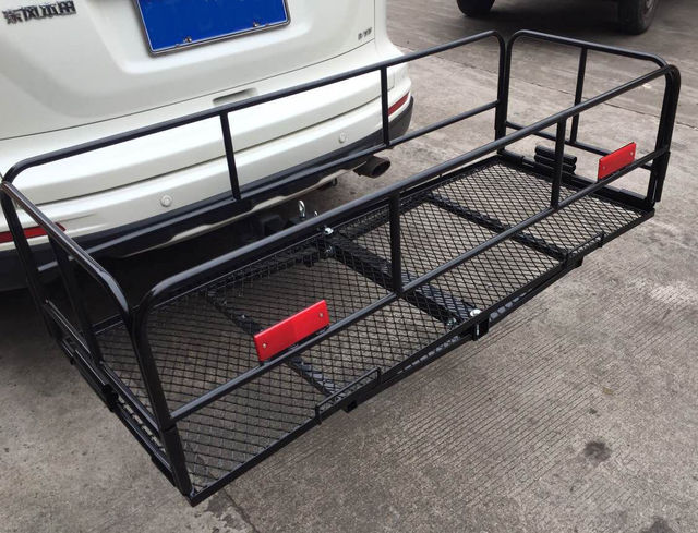 New 60 Quot Folding Cargo Carrier 2 Quot Hitch Mount Luggage Mesh