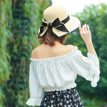 52f704bf888 Sun Hats for women New simple ladies summer sun-shading straw hat leisure  open fork