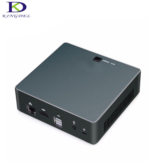 Exquisite Small computer with fan core i7 7500U windows 10 Linux type-c HDMI Nuc Intel HD Graphics 620 HTPC i5 7200U desktop pc
