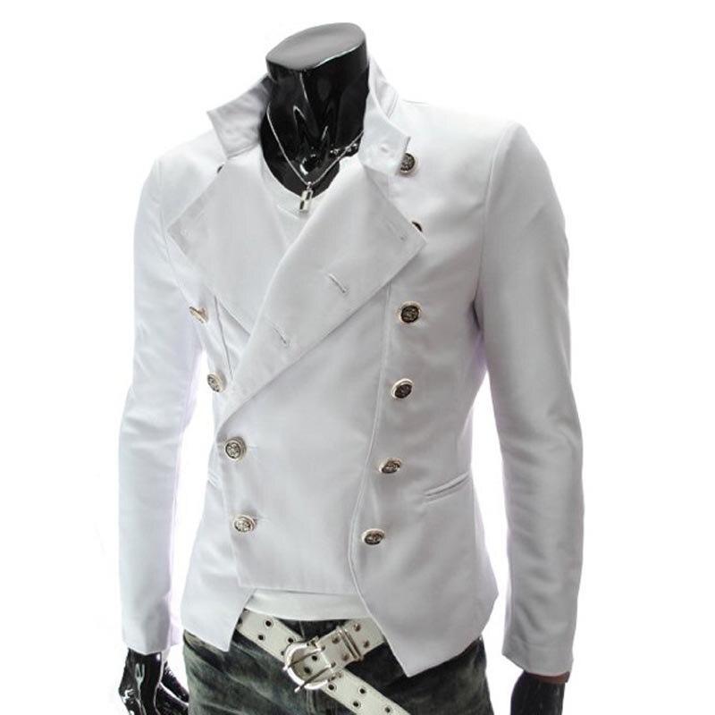 Nouveau 2019 mode printemps automne Slim décontracté danse rue double boutonnage costume veste blazers mariage hommes costumes Richard