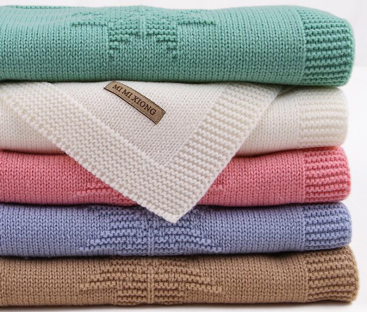 Knitted Baby Blanket Newborn Swaddle Wrap Blankets Super Soft Toddler Infant Bed Crib Sofa Throw Blanket Stroller Blankets