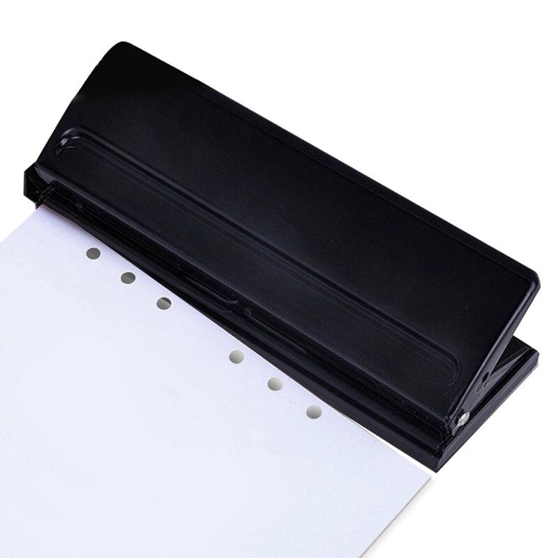 HOT-6 Hole Punch Loose-Leaf Standard Puncher Paper Adjustable Stapler Home Office Binding Supplies Student Stationery Equipmen