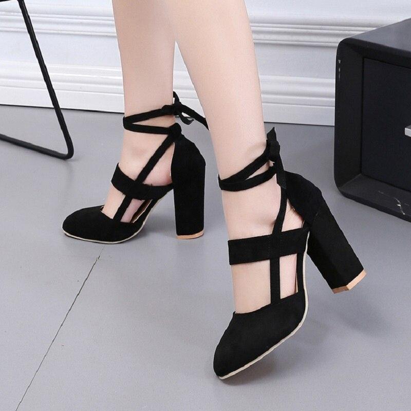 Et Talons Grande kaki New Avec Summer rose Sandales Europe Taille Sexy Black Épais Roman Hauts I8q8p