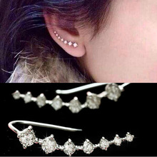 gold plated ear cuff earrings for women bijoux hot selling fashion <font><b>jewelry</b></font> wholesale