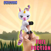 Popular Baby Unicorn Interactive Finger Unicorn Glitter Smart Colorful Finger Smart Induction Toys Christmas Gift Kid