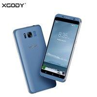 Gratis Verzending XGODY D19 3G Unlock 5.5 Inch Smartphone Android 5.1 MTK MT6580 Quad Core 1G + 8G IPS Slimme Mobiele Telefoon Cellphone
