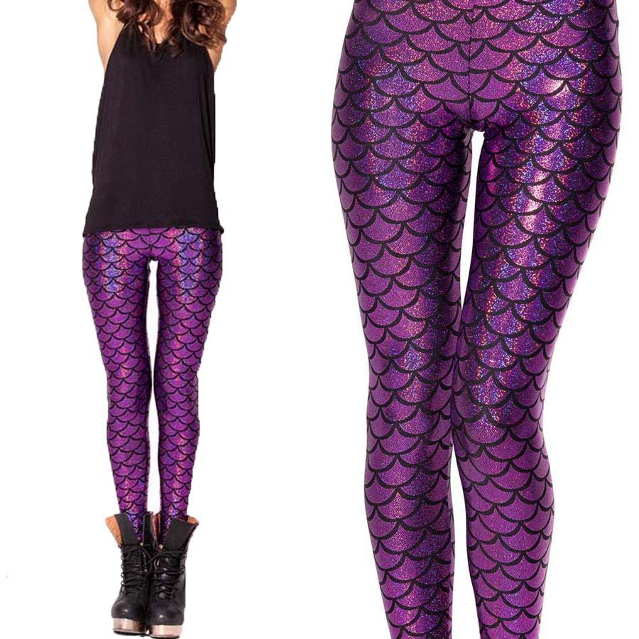 High Waisted Mermaid Leggings - Trendy Clothes