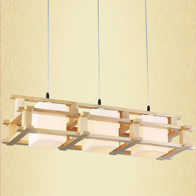 Фотография Vintage Wooden  Pendant Light Loft Restaurant Bedroom Diningroom Pendant Lamp E27 bulb Fixture