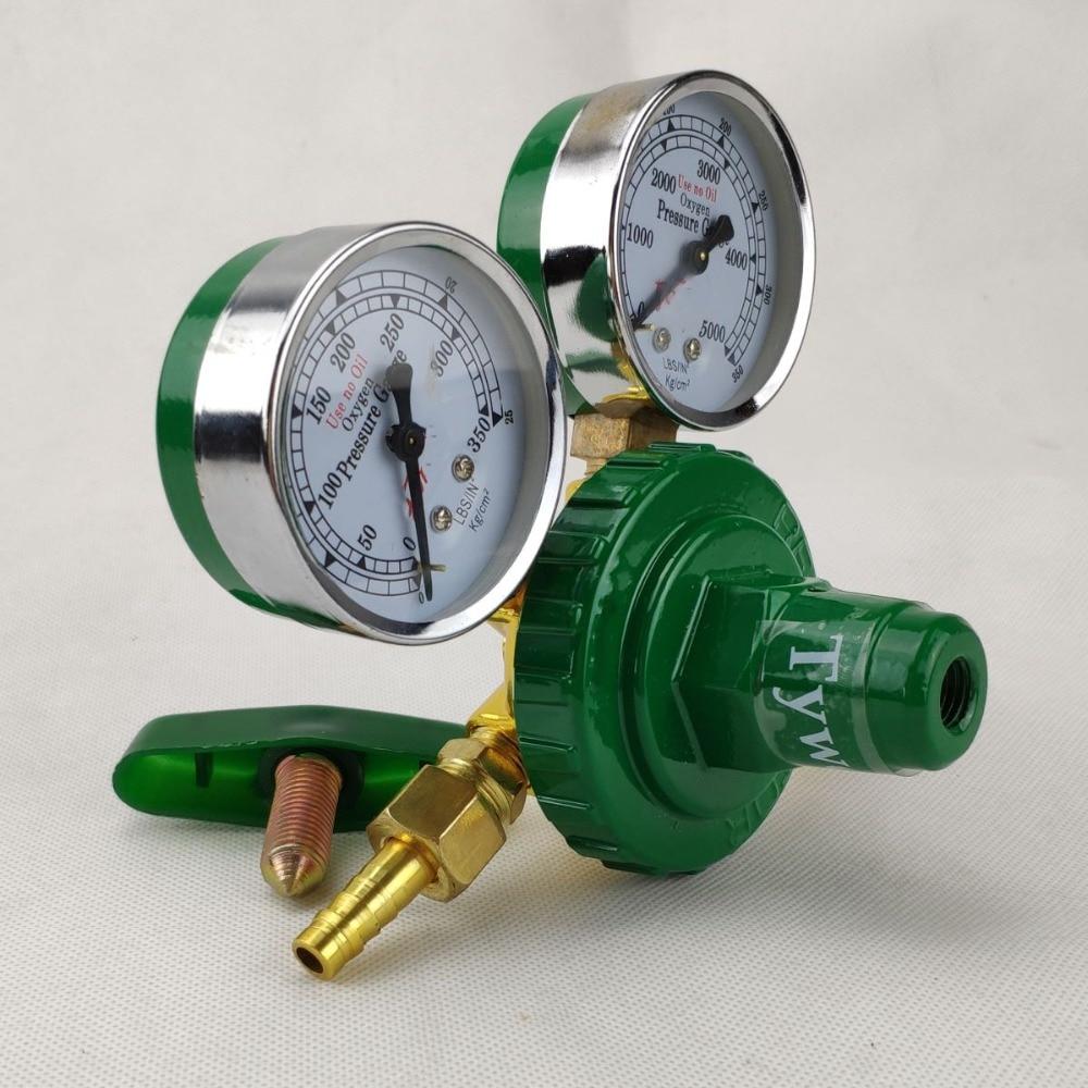 home improvement : Oxygen Regulator 0-350kg cm2  0-35MPa 0-5000psi  to 0-25kg cm2  0-2 5MPa  G5 8 Inlet Dual Gauge Welding Cutting Gas Pressure Reg