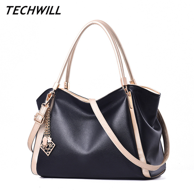 0842dc215927 2018 New Fashion Large Women Shoulder Crossbody Tote Bag PU Leather Women  Handbags Ladies Purse Female
