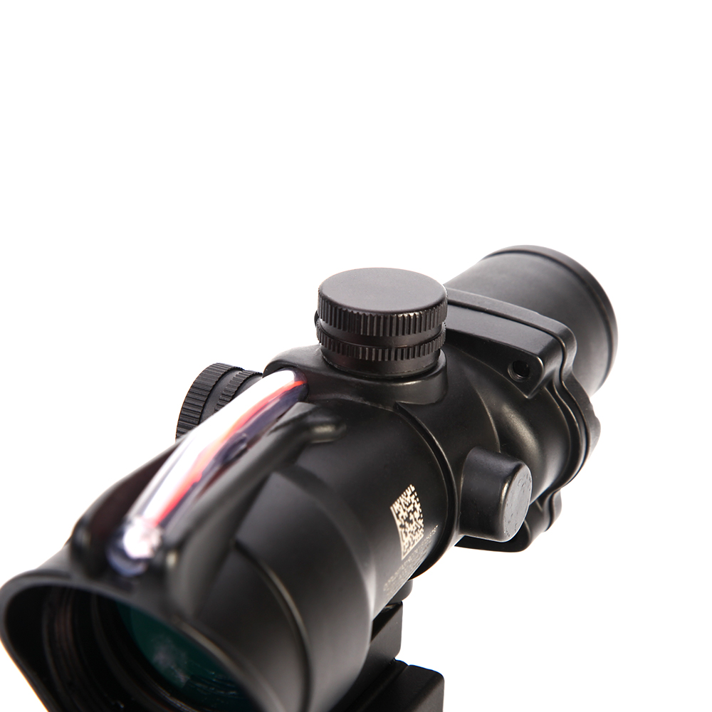 Image 5 - LUGER Hunting Scope ACOG 4X32 Real Fiber Optics Red Dot Illuminated Chevron Glass Etched Reticle Tactical Optical Sight Scopes-in Riflescopes from Sports & Entertainment