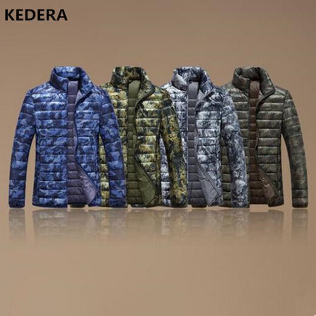 2016 marca de ropa de Camuflaje de Los Hombres del ganso del pato abajo canadá Chaqueta de Invierno Más Tamaño Abrigos Rompevientos Parka Streetwear