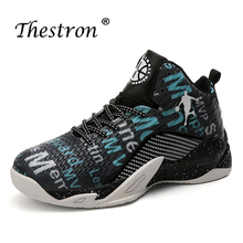 цена на Basketball Shoes Lovers Black Red Men Basketball Shoes Outdoor Anti-Slipery Basketball Boots Big Size 36-45 Man Sneakers Sport