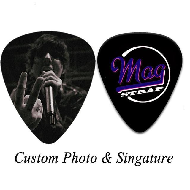 100 шт персонализированные целлулоидные гитарные медиаторы на фотография