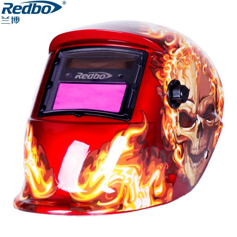 Redbo MIG MMA 6000 Lente Máscara de Solda Capacete de Soldagem Cap Soldador de Solda Elétrica