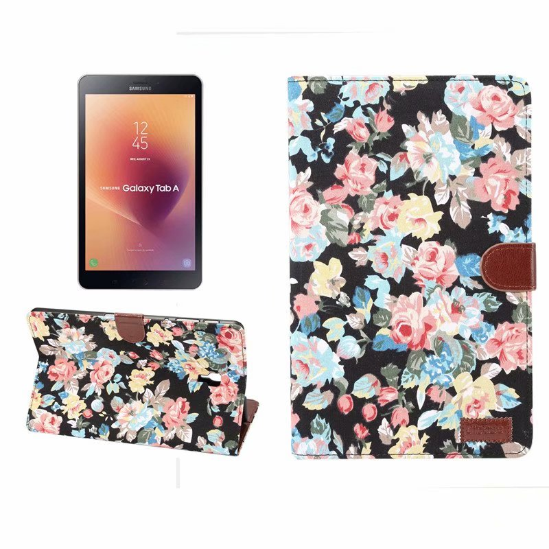 Case For Samsung Galaxy Tab A 10.5 T590 SM-T590 SM-T595 T597 Cover Flower Flip Stand Leather Book Magnet Smart Funda Capa