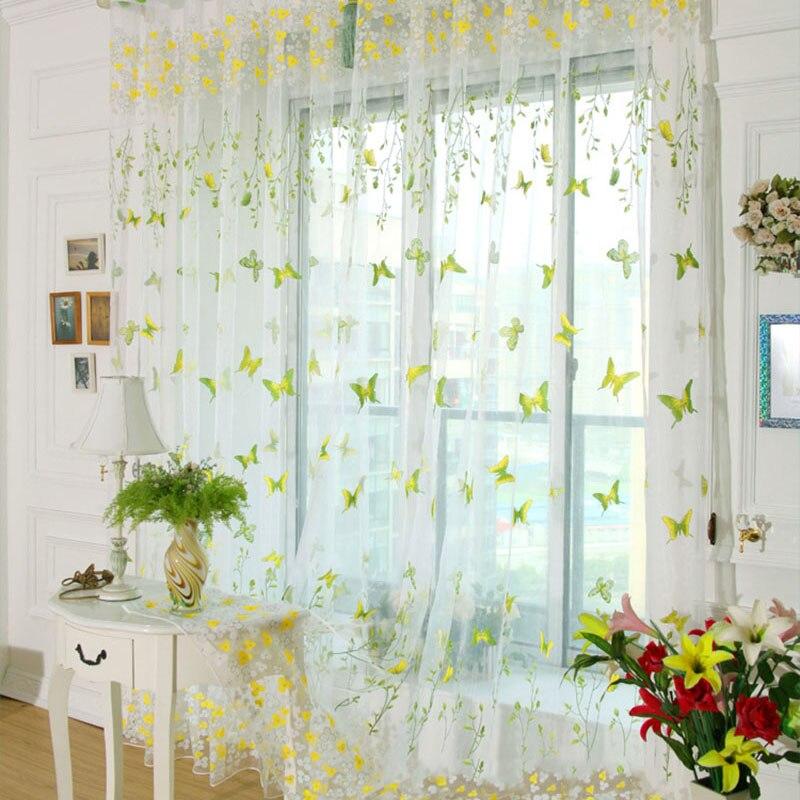 wohnzimmer grün rosa:Butterfly Window Curtains