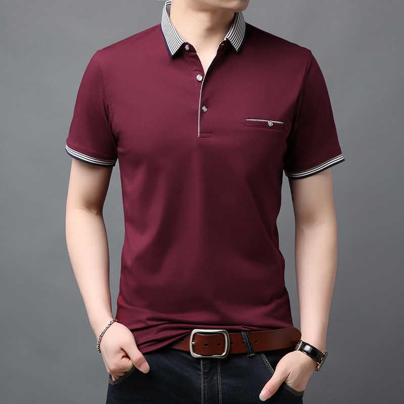 2020 nowa marka modowa letnie koszule Polo męskie najwyższej  t7OUn