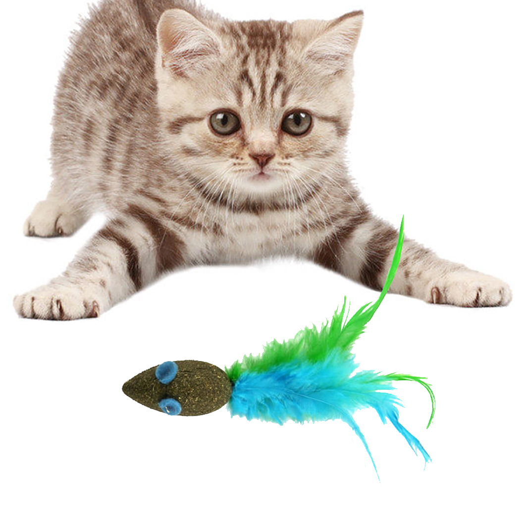 1Pcs/6Pcs Catnip Toys Creative Mini Cute Mice Shape Toy Funny Interactive Pet Training Toy Mouse Toys For Cat Kitten Pet Favor