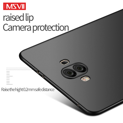 MSVII Mobile Phone Cases for Huawei Mate 10 Case Ultra-thin Plain Hard Covers for Huawei Mate 10 Pro Cover Anti-fingerprint Multan