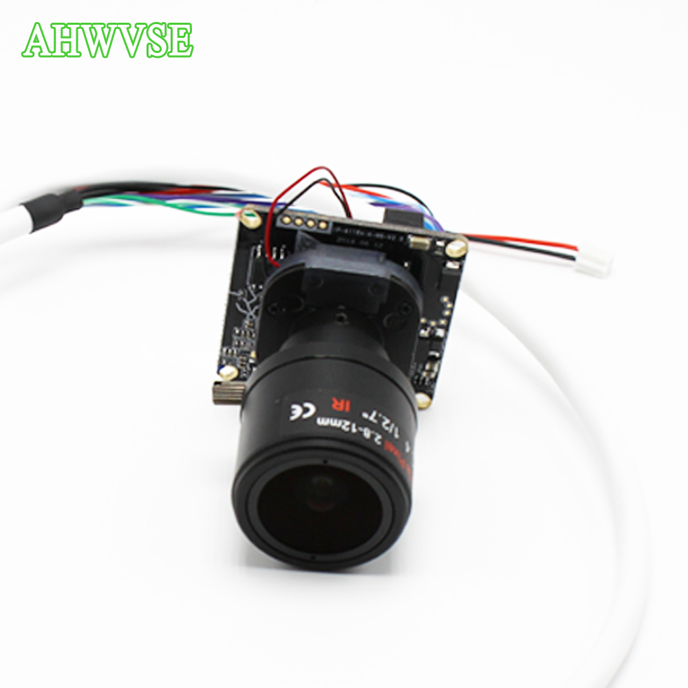 AHWVSE 1080P IP camera module board 2.8-12mm Lens High Resolution H.264 720P 960P CCTV camera with LAN cable ONVIF P2P цены