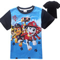 4-9 Years Summer Cotton Fiber Short Sleeve T-shirt Boys Clothing O-neck Children T Shirts