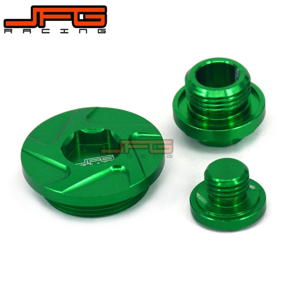 Green Engine Timing Oil Filter Plug Set For KX250F 11 16