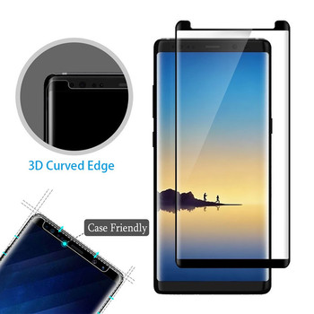 YKSPACE 4Colors 3D Curved Clear 9H Tempered Glass For Samsung Galaxy S8 S9 Plus Note 8 9 Case Friendly Screen Protector image