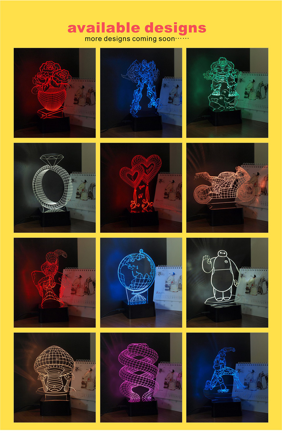 Novelty Christmas Light for Chiese Knot 3D Led Besides Lamp Music NightLights with Bluetooth Speaker (15)