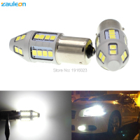 Zauleon 2pcs 1156 P21W BA15S LED White 6000K Car DRL Bulb 30SMD 2835 Car Replace Interior