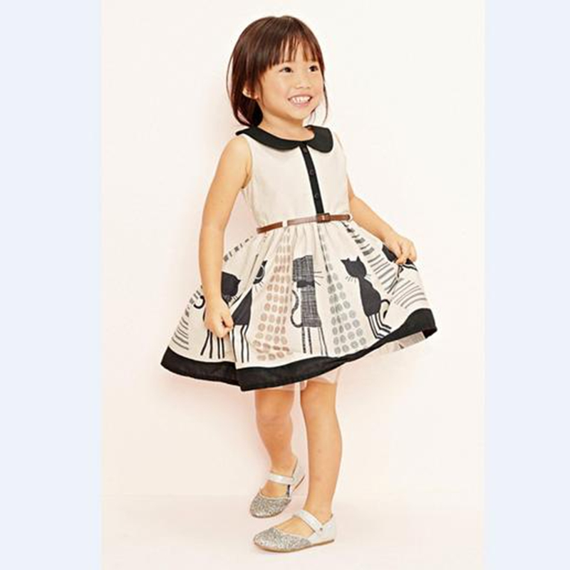 2017 children Clothing girls dress summer Sleeveless Cute sweet  Bow Baby Kids pretty Dresses Sashes girls clothes A1034