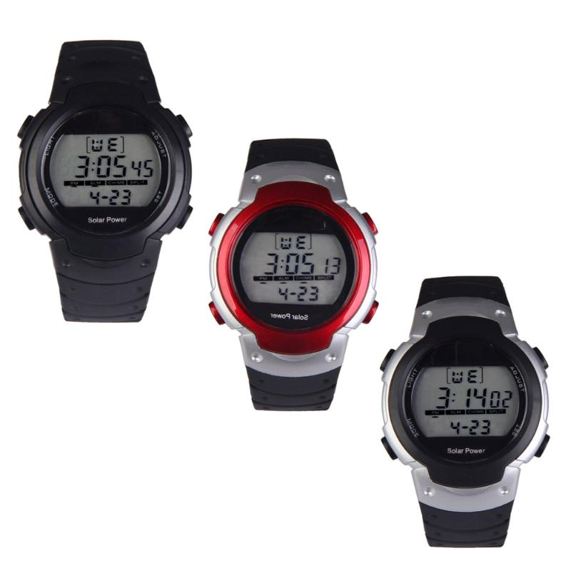 цена на Fashion Solar Watch with Backlight Casual Sport Watches Men Digital Watch Solar Powered Watch reloj solar power