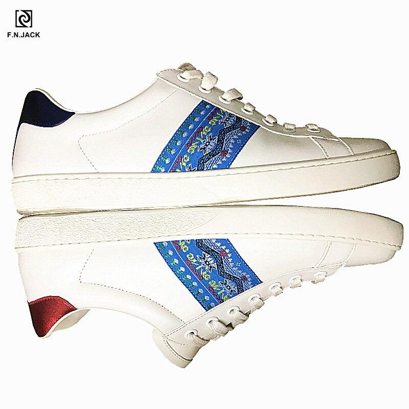 F. n. jack mens 캐주얼 스니커즈 정품 가죽 트렌드 맞춤형 통기성 암소 가죽 남성 패션 고무 운동화-에서남성용 캐주얼 신발부터 신발 의  그룹 1