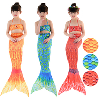 HOT 4PCS Set Children S Diamond Swimsuit Mermaid Tail With Monofin Fin Girls Kids Swimsuit Mermaid