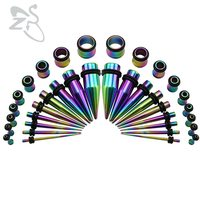 1 6 10mm 5 Colors Lot Popular Ear Tunnel Plug Piercings Stainless Steel Fresh Ear Expander