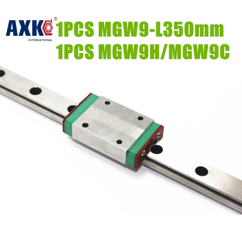 Rodamientos Axk Free Shipping Cnc Square Rail 9mm Width Linear Guide Block Mgw9h /mgw9c With Length 350mm Mgw9 Fast Delivery high quality 15mm width precision linear guide rail 1pcs trh15 length 700mm 2pcs trh15b square linear block for cnc