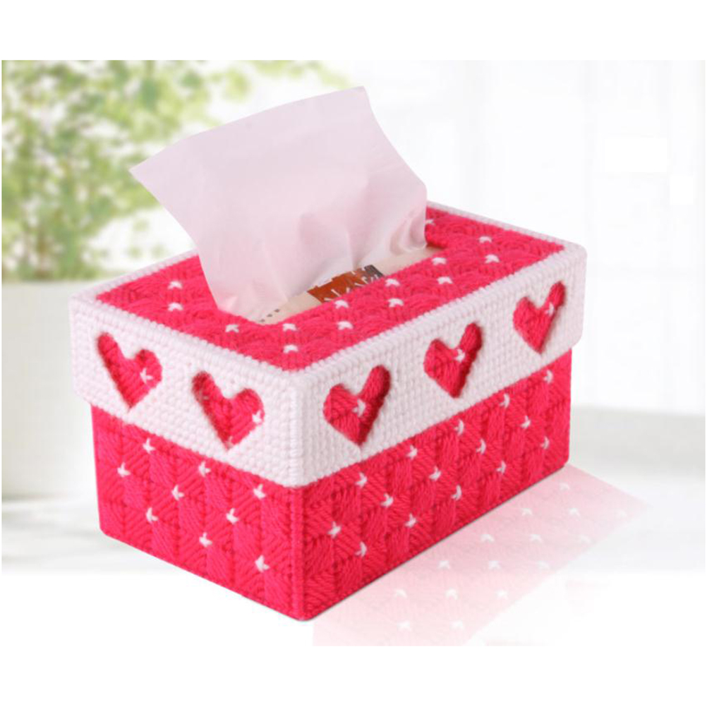 Diy Handmade 3d Cross Stitch Embroidery Tissue Box Case Holder For Home Decoration Christmas
