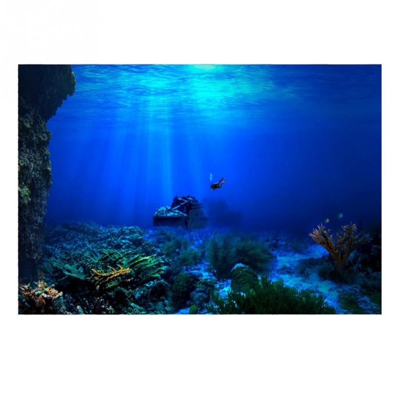 DemüTigen Pvc Aquarium Hintergrund Poster 3d Wirkung Meer-welt Poster Fantasie Fisch Tank Nautischen Ozean Meer Hintergrund Hd Aquarium Dekorationen