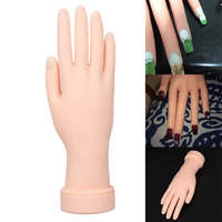 Flexible Nail Art Practice Hand Model Soft Plastic Training Display Tool For Acrylic Gel Polish Nail