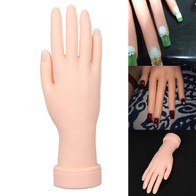 1 piece Flexible Nail Art Practice Hand Model Soft Plastic Training Display Tool for Acrylic Gel Polish Nail Art Design Can Bend