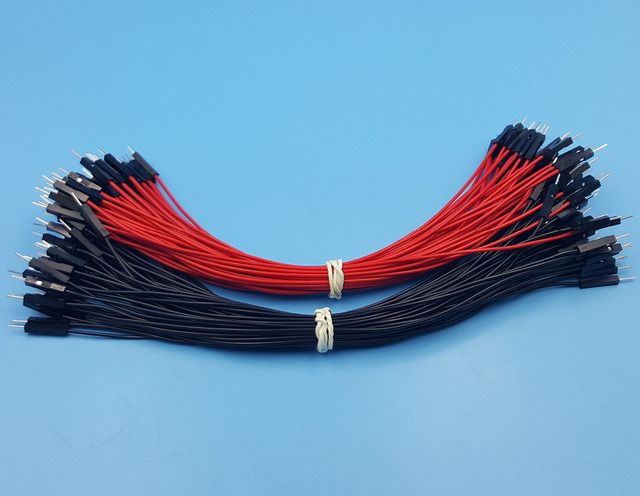 1000Pcs 2.54mm 1P 1P Male to Male Dupont Wire 20cm Jumper Red ...