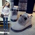 Invierno Novedades Mujer Zapatos de La Manera de La Felpa Interior Slip-sobre la Mujer Botas Zapatos de Mujer Botines para Mujer Donna Zapatos casuales
